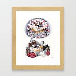 El Monstruo pintado (Parte II) Framed Art Print
