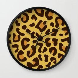 Animal Print Pattern – Leopard 1 Wall Clock