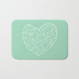 Abstract Heart Mint Bath Mat