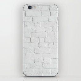 White Brick Wall - Photography iPhone Skin
