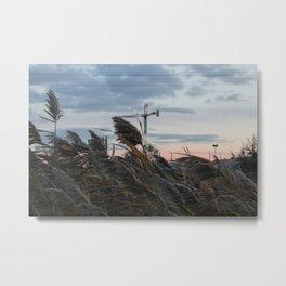 sunset jog Metal Print