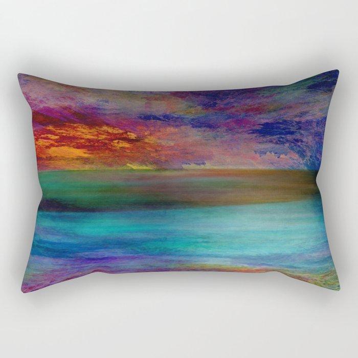 Ocean at Sunset Rectangular Pillow