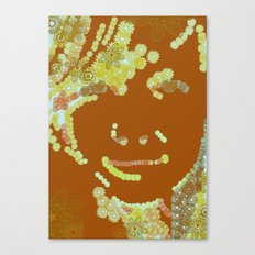 flower face Canvas Print