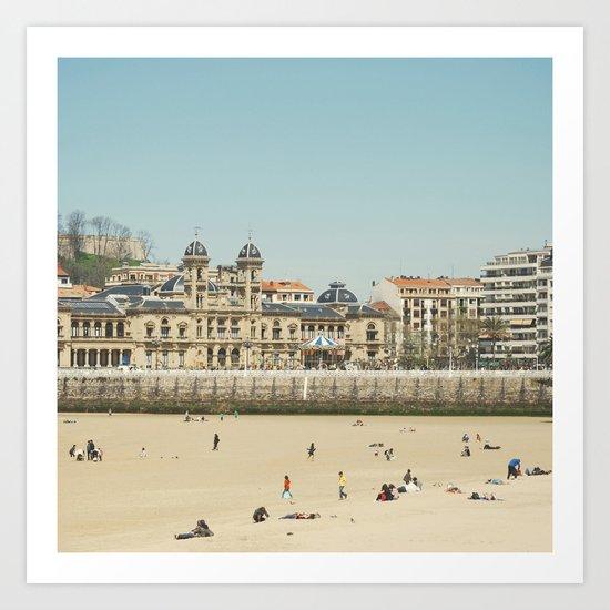 The City Hall and The Beach Art Print