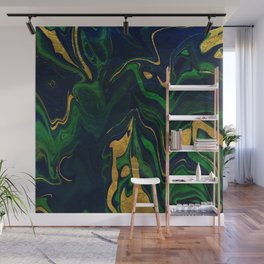 Rhapsody in Blue and Green and Gold Wall Mural