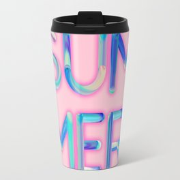 Pink Summer Travel Mug