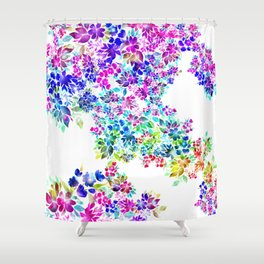 Watercolor Lei Shower Curtain