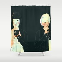 atlas Shower Curtains featuring CLOUD ATLAS by Itxaso Beistegui Illustrations