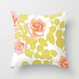 rose garden pink Throw Pillow
