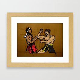 you fought with inspiration Framed Art Print