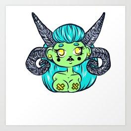 Cute Evil Caustic Art Print
