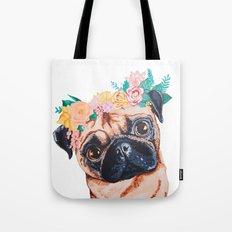 Popped Pug #3 Tote Bag