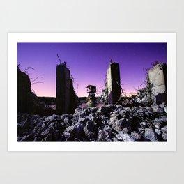 demolished Art Print