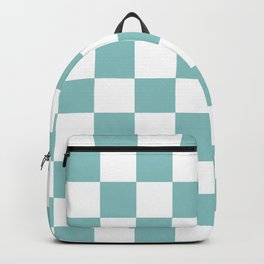 Chalky Blue Checkers Pattern Backpack