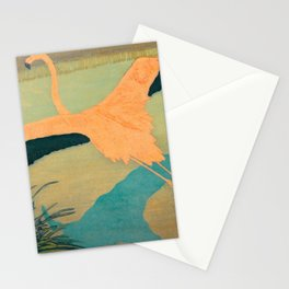 Carl Moser - Flamingo Pastel Colors Stationery Cards