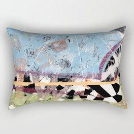 Racing Thru Dairyland Rectangular Pillow