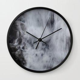 Waterfall Pareidolia Wall Clock
