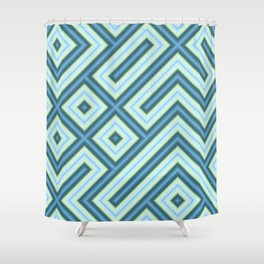 Square Truchets in MWY 01 Shower Curtain