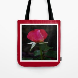 double delight rose bud (square) Tote Bag