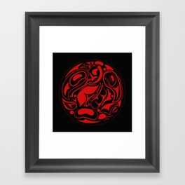 Abstract Indigenous Ornament Framed Art Print