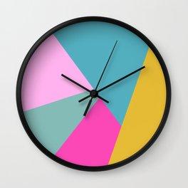Bold Color Block Design Wall Clock