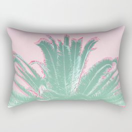 Palm Tree Leaves Tropical Vibes Design Rectangular Pillow