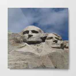 George Washington And Thomas Jefferson  - Mount Rushmore Metal Print