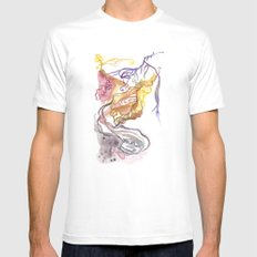 Iceland Abstracted: Krafla MEDIUM White Mens Fitted Tee