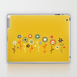 doodle flowers Laptop & iPad Skin