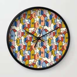 Morning city Wall Clock