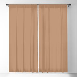 Warm Light Brown Solid Color Accent Shade Matches Sherwin Williams Oak Creek SW 7718 Blackout Curtain