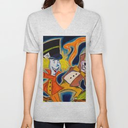 Mad Hatter and March Hare Unisex V-Neck