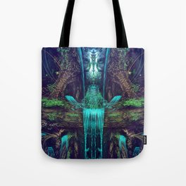 Waters Fall - Fractal - Visionary - Manafold Art Tote Bag