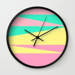 California Colors 80s Wall Clock
