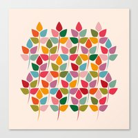 plants Canvas Prints featuring Plants by Helene Michau