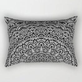 Zen Black and white Mandala Rectangular Pillow