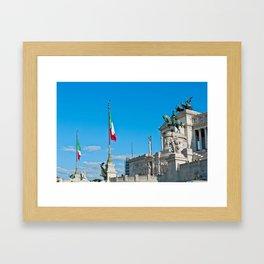 Equestrian Monument to Victor Emmanuel II Framed Art Print