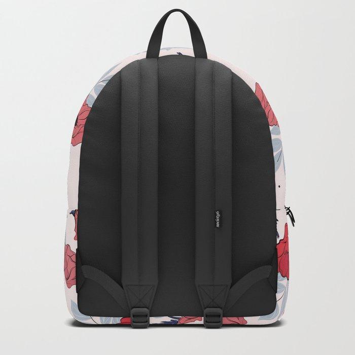 Floral crib sheet Backpack