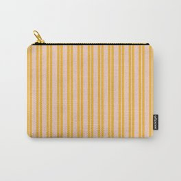 Double Stripe Pattern in Mustard Orange and Light Blush Pink Carry-All Pouch