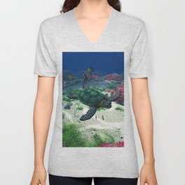Sea Turtle Unisex V-Neck