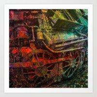 train Art Prints featuring Train by Jean-François Dupuis