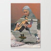 siren Canvas Prints featuring Siren by A.T. Velazco