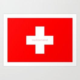 Swiss Cross - Swiss Flag Art Print