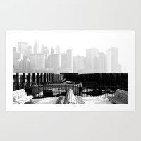 Manhattan Skyline from Liberty State Park Art Print