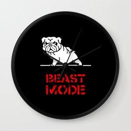 Beast Mode English Bulldog Wall Clock