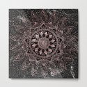 Elegant rose gold mandala dots and marble artwork by inovarts