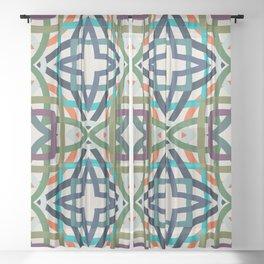 Weaving kaleidoscope Sheer Curtain