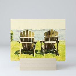 Adirondack Chairs, Maine Mini Art Print