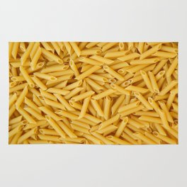 Raw penne pasta Rug