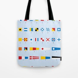 Maritime Signal Flags Poster Tote Bag